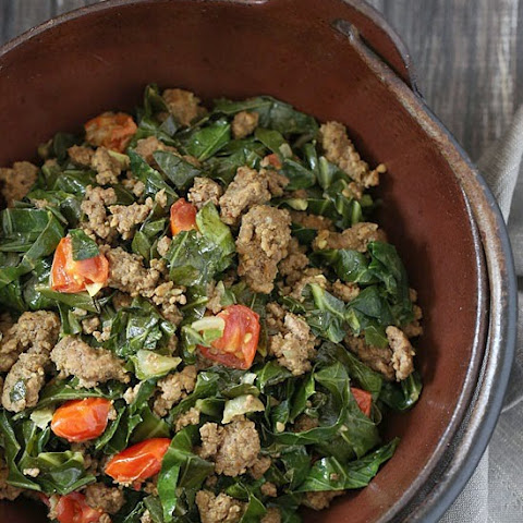 Kenyan Braised Collard Greens and Ground Beef (Sukuma Wiki)