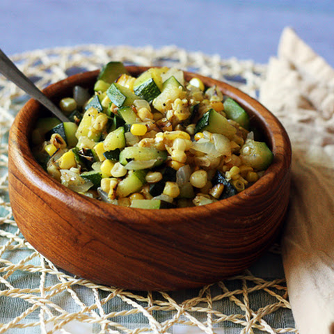 Skillet Corn with Zucchini & Onions
