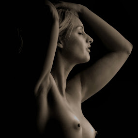 by Jean-marc Nehmé - Nudes & Boudoir Artistic Nude ( nude, low key, female, ease, shadows )