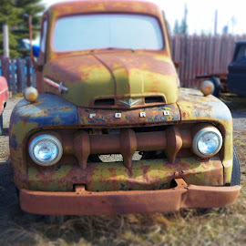 Seen better days by Charlene Wiebe - Transportation Automobiles