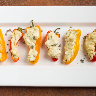 Stuffed Peppers with Goat Cheese & Sage