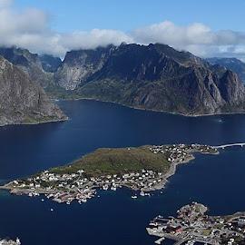 Reinebringen, Lofoten, Norway by Zion Tay Zi Yong - Landscapes Mountains & Hills ( mountain, sea, lofoten, reinebringen, norway )