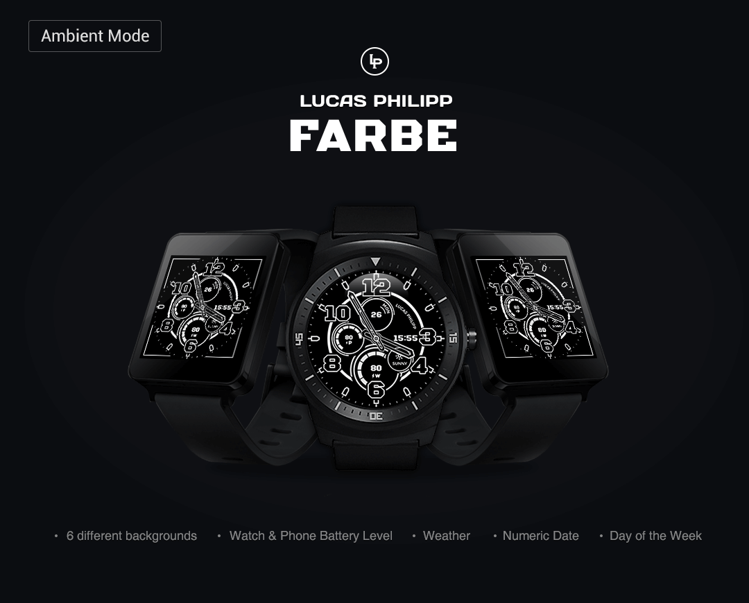 Farbe watchface by LucasPhilip Screenshot 4