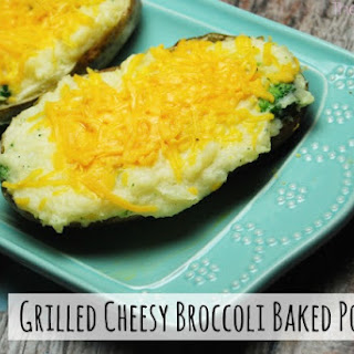 Grilled Cheesy Broccoli Baked Potatoes