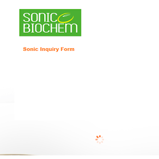 SONIC BIOCHEM INQUIRY FORM - screenshot