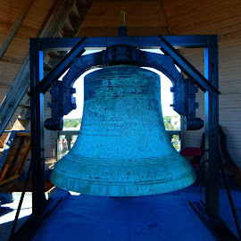 Antique Bell in Town Hall by Kristine Nicholas - Novices Only Objects & Still Life ( building, old, town hall, bell tower, architecture, massachusetts, historic, city, fishermen, bell, tower, metal, gloucester, fishing, town, antique )