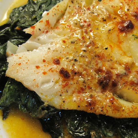 Smokey Grouper with Spinach