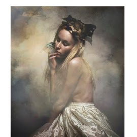 The Girl by Sattwick Sarkar - Digital Art People ( bird, product photography, girl, digital art, beautiful, pretty )
