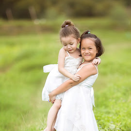 Sweet little girl and sister  by Pitakchatr Thepracha - Babies & Children Children Candids ( thailand, little, thai, people, together, asian, caucasian, kid, love, free, nature, family, friendship, childhood, dirt, toddler, flower, barefoot, fun, steps, sweet, adorable, preschooler, conceptual, friend, walking, concept, joy, cute, pretty, farm, bond, child, sister, girl, poverty, happy, dirty, asia, ecology, green, play, poor, enjoy, young, two, sibling, meadow, summer, eco )