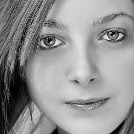 Sam by Martin Arscott - Black & White Portraits & People