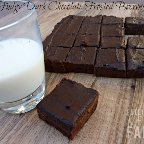 Fudgy Dark Chocolate Frosted Brownies