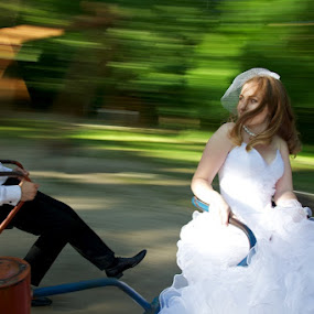 Follow her. by Aurel Virlan - Wedding Other ( follow her, wedding, carousel, bride and groom )