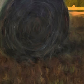 Tubes of Hay by Allen Crenshaw - Digital Art Places ( abstract, illustration, digital art, iphone, photography )