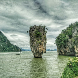 James Bond Island by Sergiu Chirilov - Instagram & Mobile Android ( water, vacation, hdr, james bond, thailand, sea, travel, mobile photography, island )
