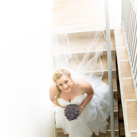 Bride on Stairs by Riaan Roux - Wedding Bride ( stairs, bride )