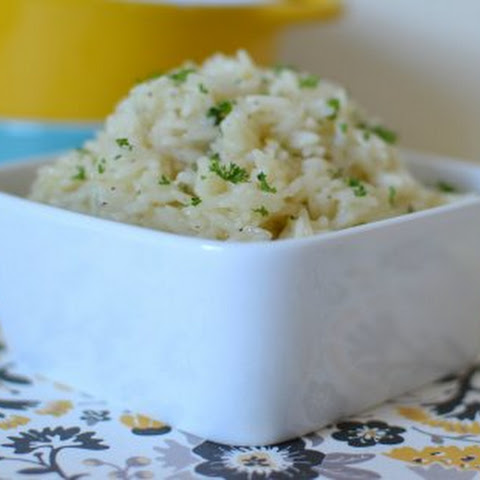 Buttery Lemon Garlic Rice