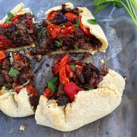 Lamb Galette with Burst Tomatoes and Figs