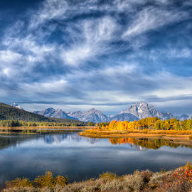 A Teton Moment by Ken Smith - Landscapes Travel ( mountains, oxbow bend, landscape, grand tetons )