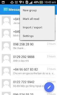Messaging SMS- screenshot thumbnail