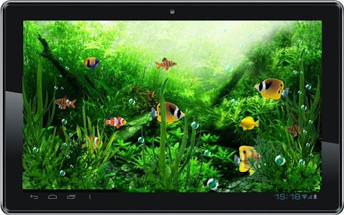 Aquarium Moving Fishes LWP - screenshot