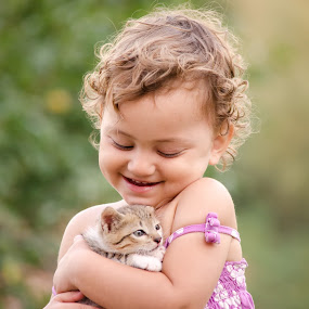 by Ovidiu Caba - Babies & Children Child Portraits ( child, cat, little )