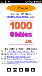 1000 Oldies Player Screenshot