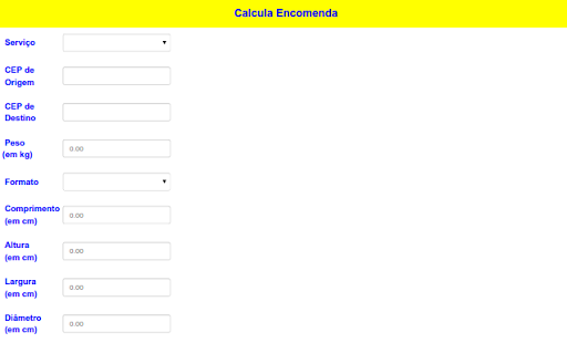 Calcula Encomenda - screenshot