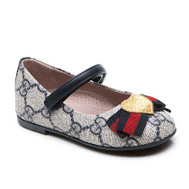 Gucci Canvas Ballet Flat BAR SHOE