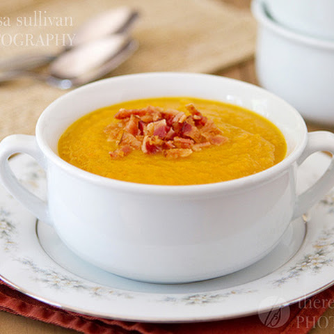 Butternut Squash Soup with Crumbled Bacon