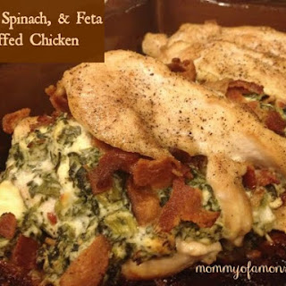 Bacon, Spinach & Feta Stuffed Chicken (Except It's Not Stuffed!)