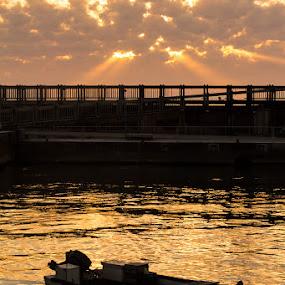 by Libin Michael - Landscapes Sunsets & Sunrises ( macro, sunset, sea, light, sun )