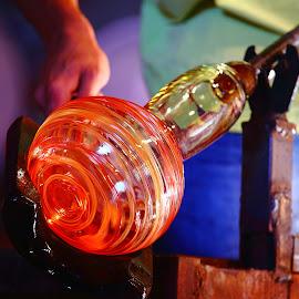 Palau - le souffleur de verre n18 by Gérard CHATENET - Artistic Objects Glass