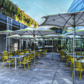 Collection's Cafe by Deborah Russenberger - Artistic Objects Furniture ( tables, washington, chihuly, seattle, chairs, umbrella, dining, restaurant )