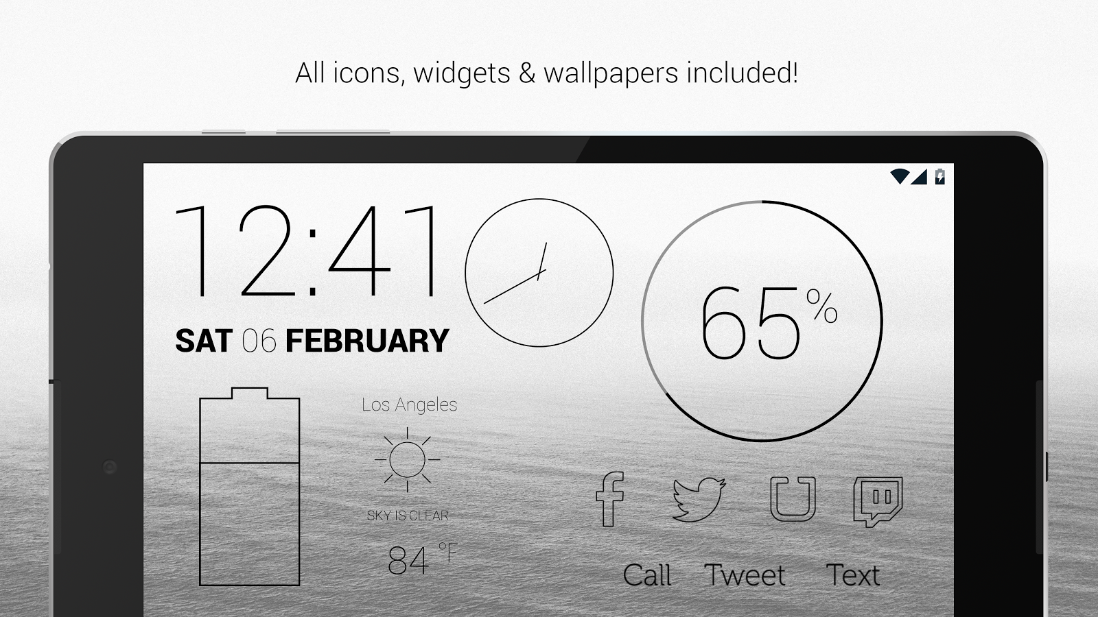 Lines Dark - Flat Black Icons Screenshot 16