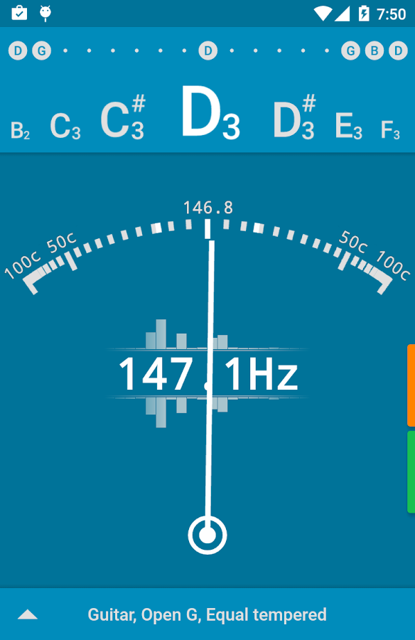 Tuner - gStrings Free Screenshot 1