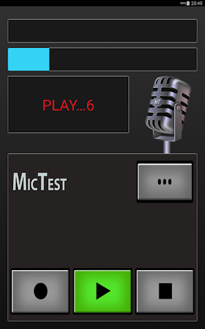 Mic Test Screenshot