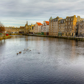 Cloudy Shore by Mark Holm - City,  Street & Park  Historic Districts ( shore, leith, edinburgh, victorian, cloudy )