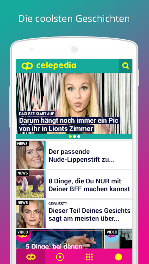 Celepedia – News,Videos&Tests Screenshot 0