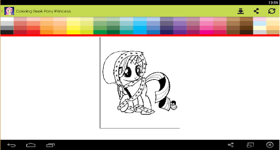 Coloring Book Pony Princess - screenshot