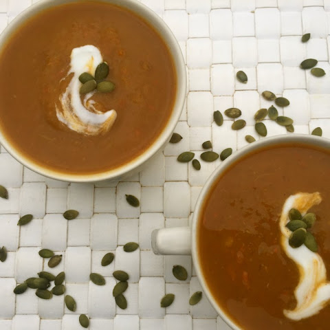 Slow Cooker Butternut Squash Sweet Potato Soup