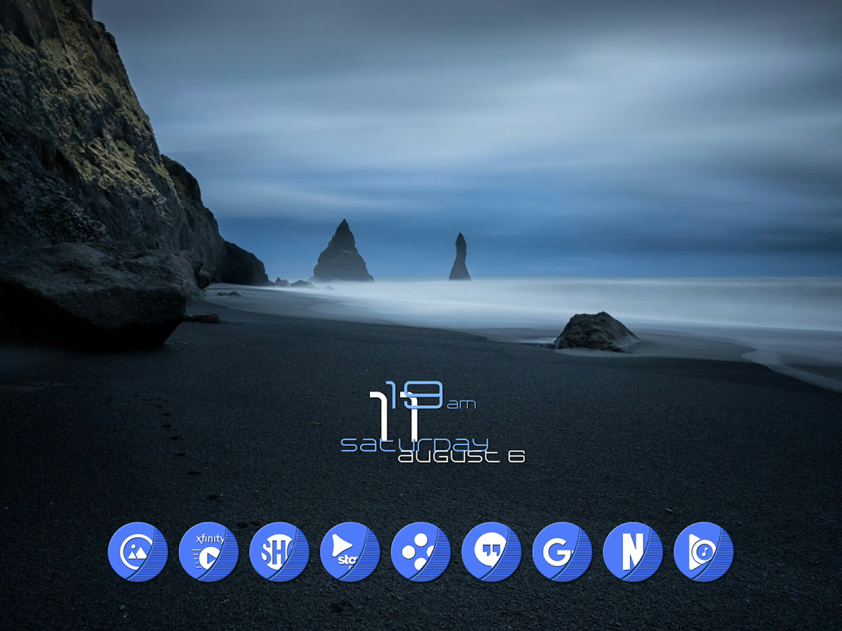 Naz Blue - Icon Pack Screenshot 8
