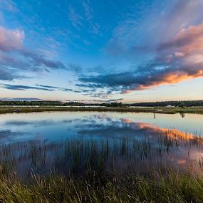 reflections by Benny Høynes - Landscapes Waterscapes ( canon, water, clouds, bennyhøynes, mk2, reflections )