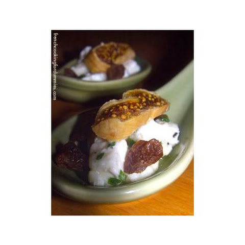 Goat Cheese & Dried Figs Appetizer Spoons