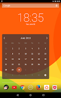 Screenshot of Month Calendar Widget