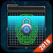 Fingerprint Lock Screen & Weather Clock