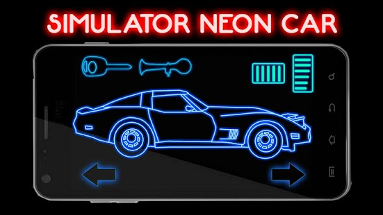 Simulator Neon Car - screenshot