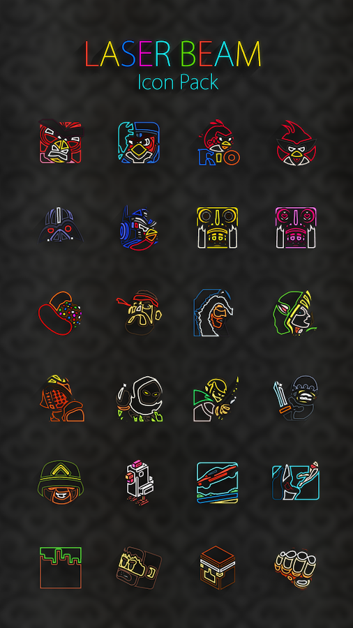Laser Beam Icon Pack Screenshot 13
