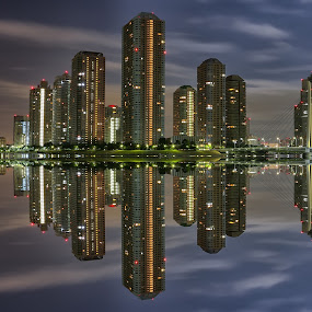 kayabacho Tokyo Japan by Nurul Anwar - City,  Street & Park  Night