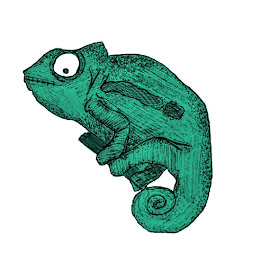 by Sarah McDonnell - Illustration Animals ( lizard, turquoise, illustration )