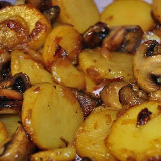 Potato Casserole With Onions And Mushrooms